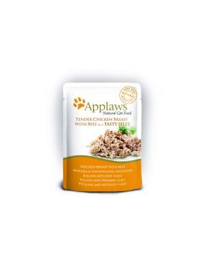 Applaws Cat Pouch Jelly Chicken & Beef (Pack of 16 x 70g)