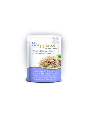 Applaws Cat Pouch Jelly Chicken & Liver (Pack of 16 x 70g)
