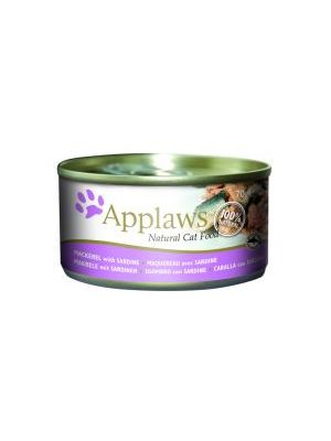 Applaws Cat Tin Mackerel & Sardine (Pack of 24 x 70g)