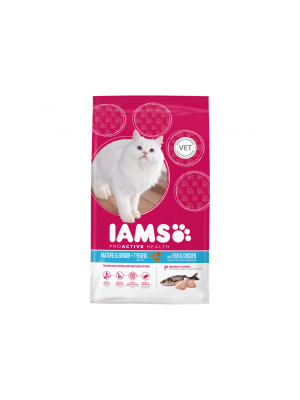 Iams Senior & Mature Dry Cat Food Ocean Fish and Chicken