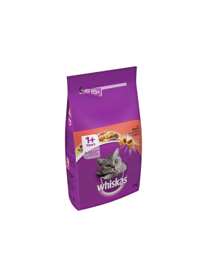 Whiskas 1+ Cat Complete Dry with Beef 2kg