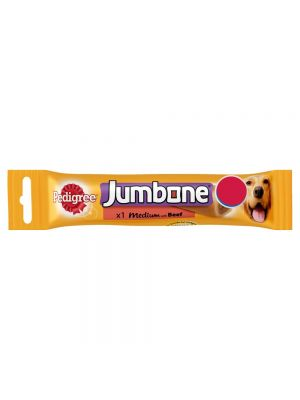 Pedigree Jumbone Medium Dog Treat ClipStrip with Beef 1 Chew £1