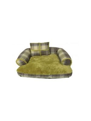 Animate Green Tweed Sofa Bed