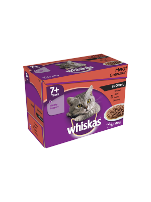 Whiskas Pouch 7+ Meat 12 Pack