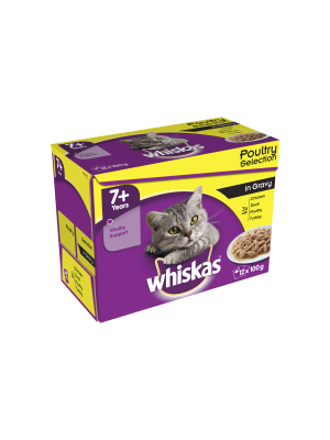 Whiskas Pouch 7+ Gravy 12 Pack