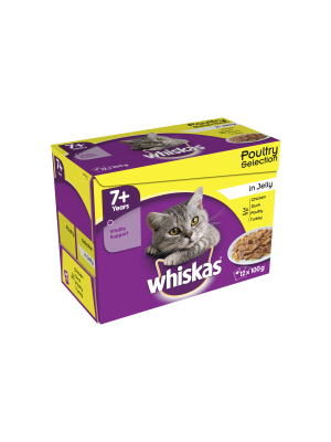 Whiskas Pouch 7+ Jelly 12 Pack