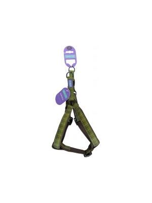 Hem & Boo Check Harness Green Large
