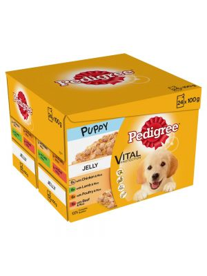 Pedigree Pouch Puppy Mixed Jelly 24 Pack