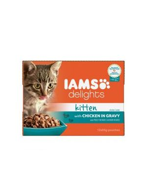 Iams Delights Kitten with Chicken in Gravy