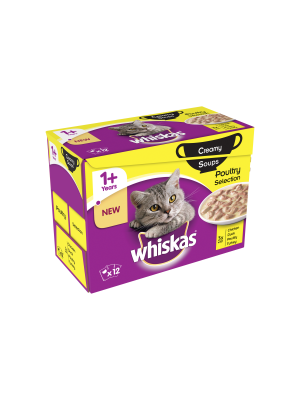 Whiskas 1+ Soup Poultry 12 Pack
