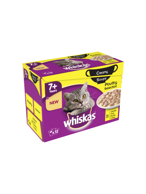 Whiskas 7+ Soup Poultry 12 Pack