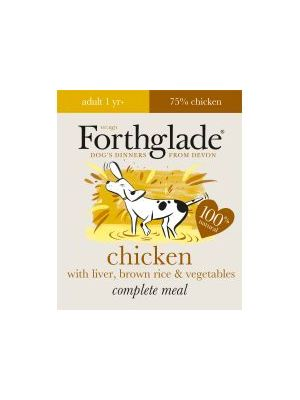 Forthglade Complete Meal Adult Chicken with Liver, Brown Rice & Vegetables