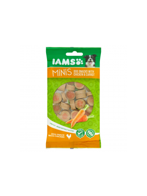 Iams Minis Dog Snacks with Chicken & Carrot