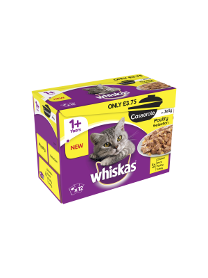 Whiskas Casserole Poultry pm£3.75 12 Pack
