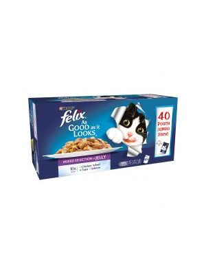 Felix Pouch As Good As It looks Mixed 40pk
