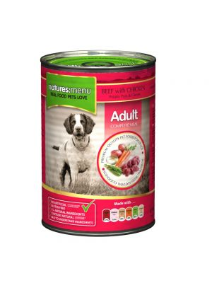 Natures Menu Beef with Chicken Dog Food Cans (Pack of 12)