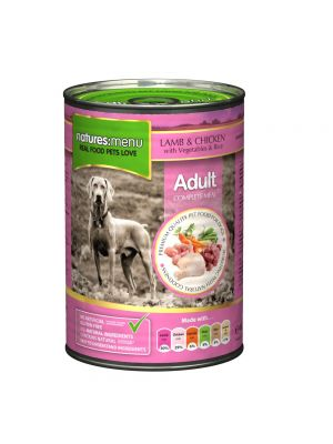 Natures Menu Lamb with Chicken Dog Food Cans (Pack of 12)