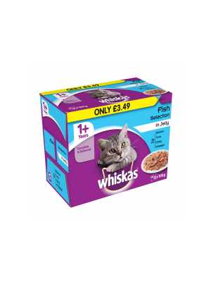 Whiskas Pouch Fish PM £3.49 12pk
