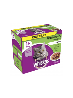 Whiskas Pouch Fish & Meaty pm£3.49 12pk