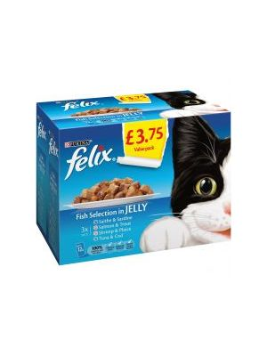 Felix Pouch Fish Selection in Jelly 12pk £3.75
