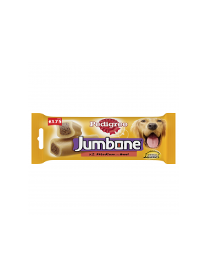 Pedigree Jumbone Beef 2pc £1.75