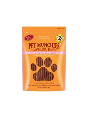 Pet Munchies 100% Natural Chicken & Sweet Potato Dental Sticks