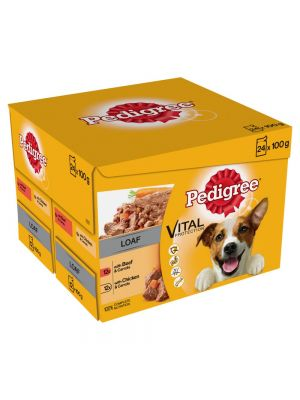 Pedigree Pouch Mixed Chunks in Loaf 24 pack