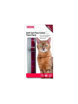 Beaphar Cat Flea Collar Velour Twin pack