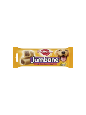 Pedigree Jumbone Medium Dog Treats with Beef 2 Chews