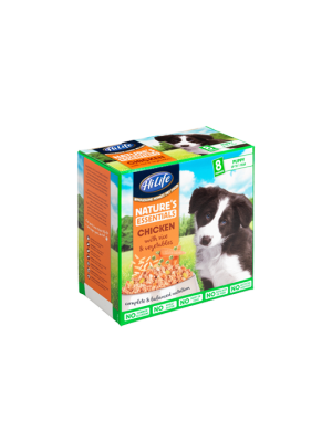 HiLife Nature's Essentials Puppy Chicken, Rice & Veg 8x150g Multipack
