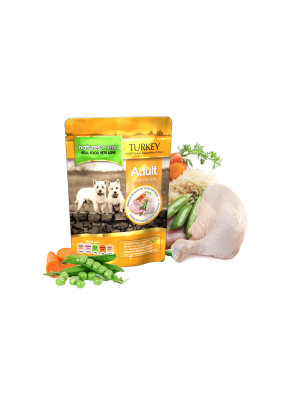 Natures Menu Turkey with Chicken Dog Pouches. (Pack of 8)