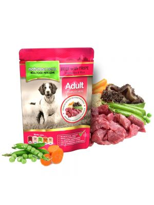 Natures Menu Beef with Tripe Dog Pouches. (Pack of 8)