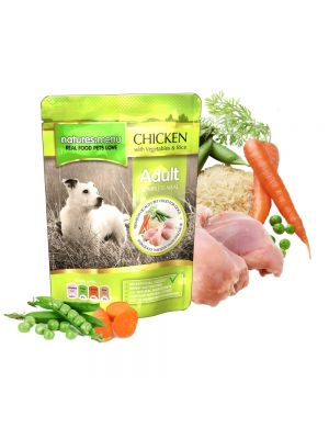 Natures Menu Chicken with Vegetables and Rice Dog Pouches
