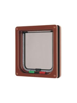 Pet Mate 4 Way Locking Cat Flap Brown
