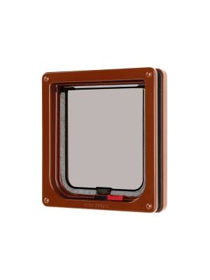 Pet Mate Lockable Cat Flap Brown