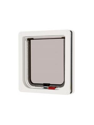 Pet Mate Lockable Cat Flap White