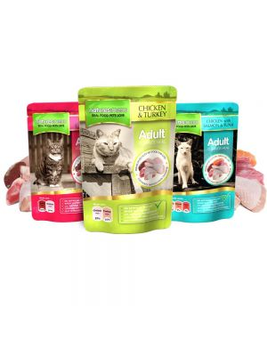 Natures Menu Adult Cat Multi Pack Pouches. (Pack of 12)