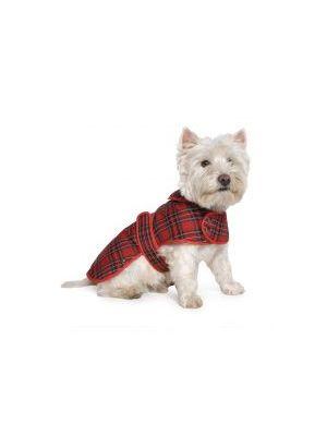 Ancol  Tartan Coat Red Large