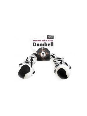 Ruff 'N' Tumble Tennis Ball & Rope Dumbell 180g