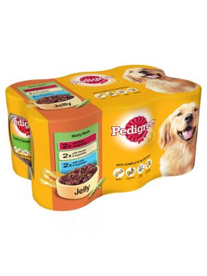 Pedigree Can in Jelly Meaty Meals 6 Pack