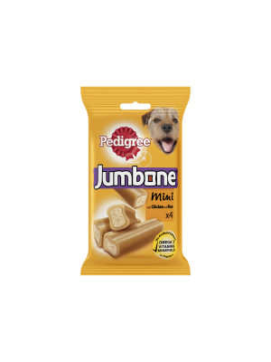 Pedigree Jumbone Small Dog Treats with Chicken and Rice 4 Chews