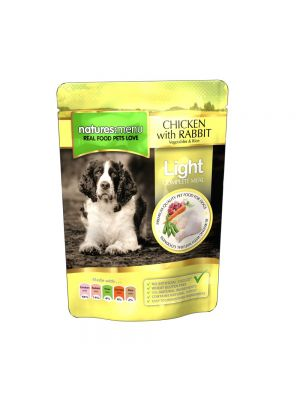 Natures Menu Light Chicken with Rabbit Dog Pouches. (Pack of 8)