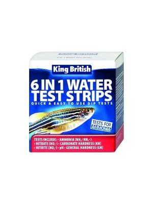 King British 6 in 1 Water Test Strips Aquarium and Pond