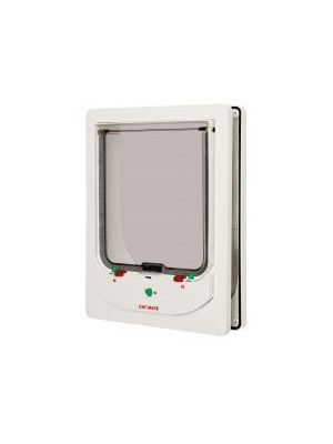 Pet Mate Large Electromagnetic Cat Flap White
