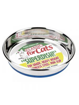 Classic Large Non Slip Cat Stainless Steel Superdish