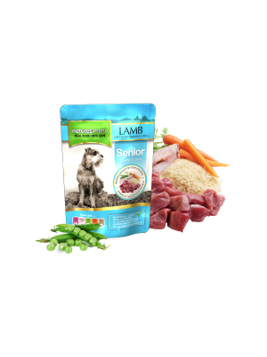 Natures Menu Senior Lamb with Chicken Dog Pouch. (Pack of 8)