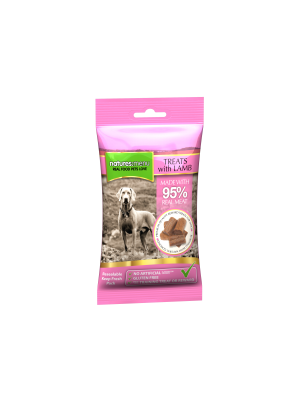 Natures Menu Real Meaty Dog Treats with Lamb and Chicken. (Pack of 12)