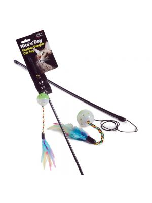 Ruff 'N' Tumble Nite 'N' Day Feather Dangler