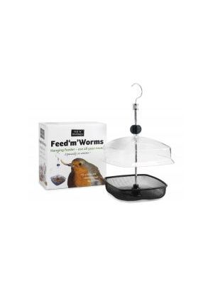 Fed 'N' Watered Feed 'M' Worms Mealworm Feeder