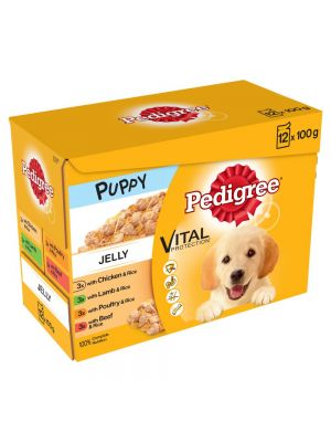 Pedigree Pouch Puppy Jelly 12 Pack
